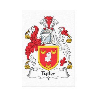 Escudo de la familia de Tytler Lienzo Envuelto Para Galerias