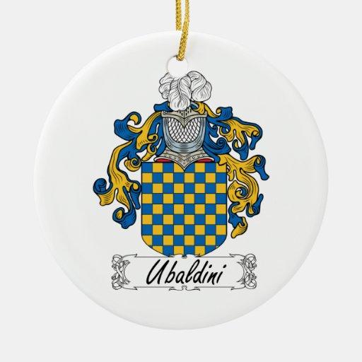 Escudo de la familia de Ubaldini Adorno Redondo De Cerámica