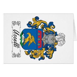 Escudo de la familia de Uccelli Tarjeta De Felicitación