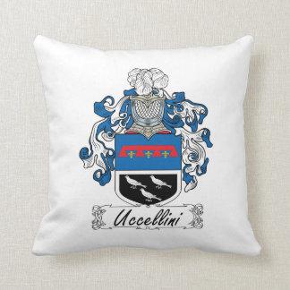 Escudo de la familia de Uccellini Cojín