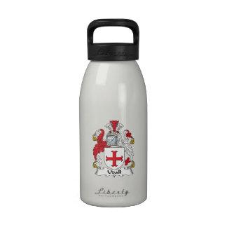 Escudo de la familia de Udall Botella De Agua Reutilizable