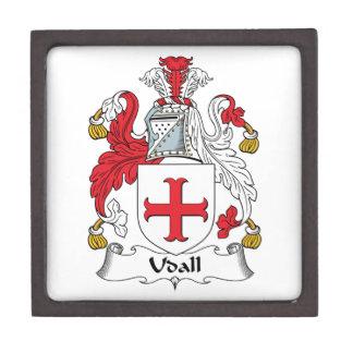 Escudo de la familia de Udall Caja De Recuerdo De Calidad