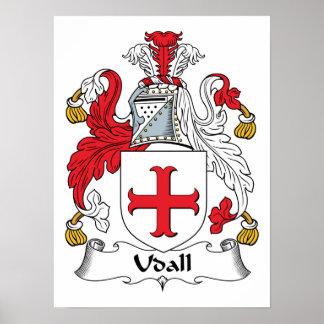Escudo de la familia de Udall Posters