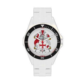 Escudo de la familia de Udall Reloj De Mano