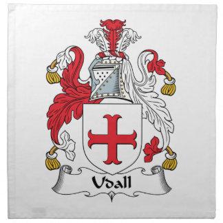 Escudo de la familia de Udall Servilleta