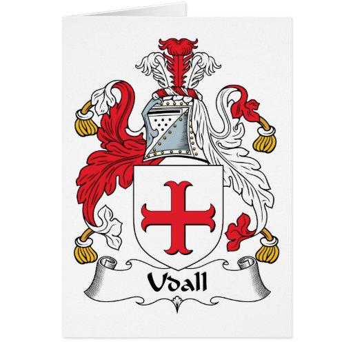 Escudo de la familia de Udall Tarjeta De Felicitación
