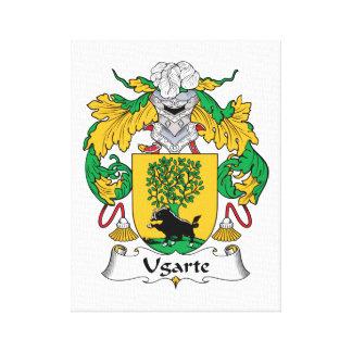 Escudo de la familia de Ugarte Impresión En Lienzo