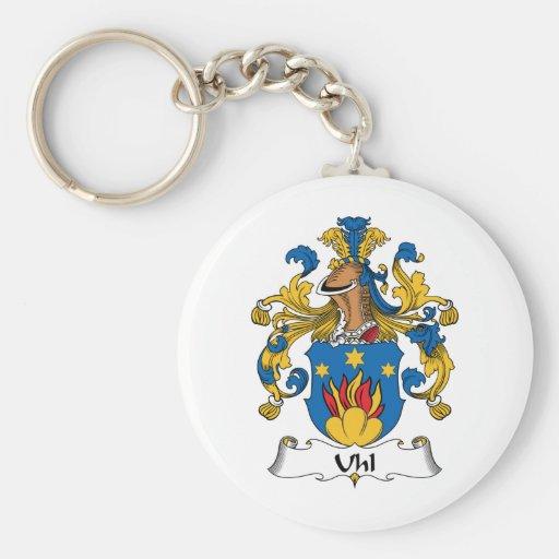 Escudo de la familia de Uhl Llavero Personalizado