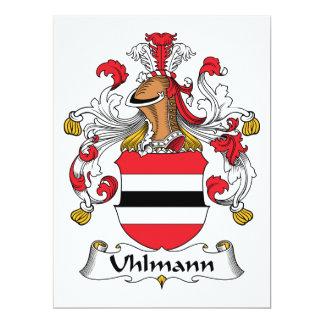 """Escudo de la familia de Uhlmann Invitación 6.5"""" X 8.75"""""""