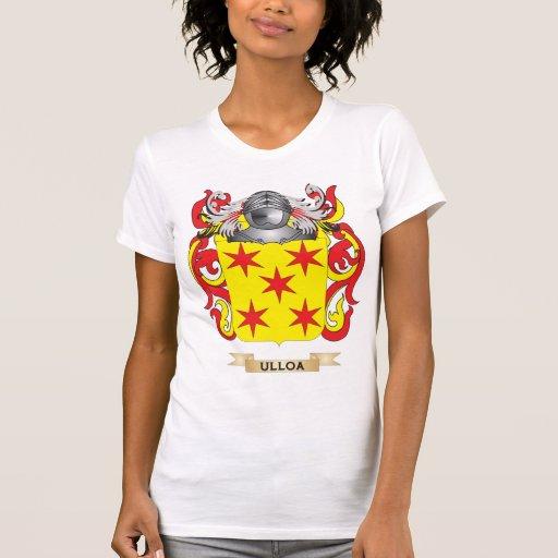 Escudo de la familia de Ulloa (escudo de armas) Camisetas