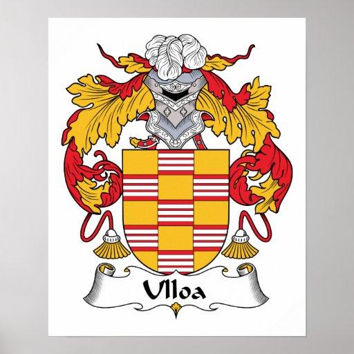 Escudo de la familia de Ulloa Poster