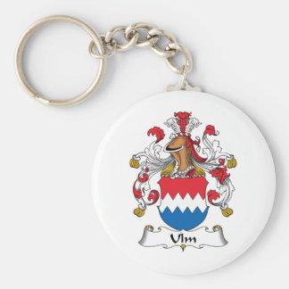 Escudo de la familia de Ulm Llavero Redondo Tipo Pin