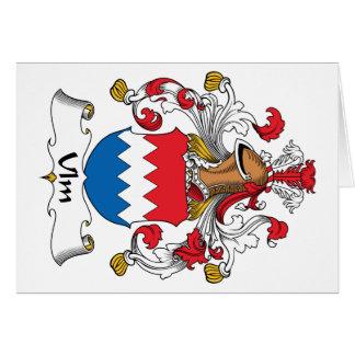 Escudo de la familia de Ulm Tarjeta