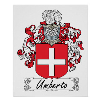 Escudo de la familia de Umberto Póster