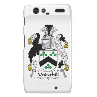 Escudo de la familia de Underhill Motorola Droid RAZR Funda