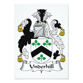 """Escudo de la familia de Underhill Invitación 5"""" X 7"""""""