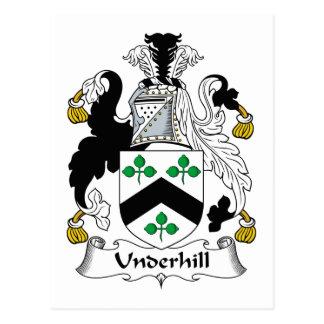Escudo de la familia de Underhill Postal