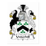 Escudo de la familia de Underhill Postales