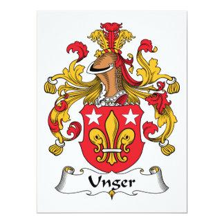 """Escudo de la familia de Unger Invitación 6.5"""" X 8.75"""""""