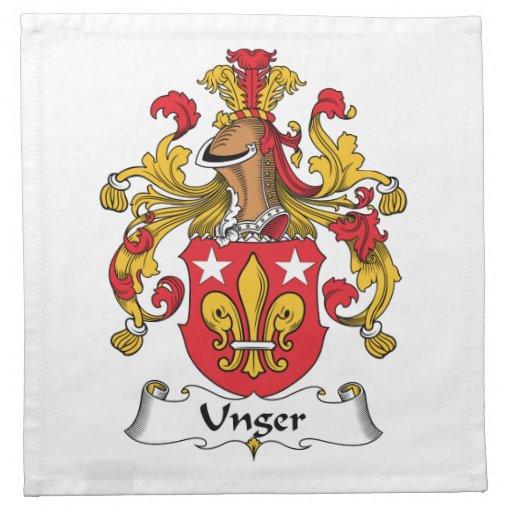 Escudo de la familia de Unger Servilleta De Papel