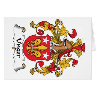 Escudo de la familia de Unger Tarjeta De Felicitación