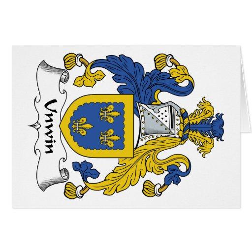 Escudo de la familia de Unwin Felicitacion