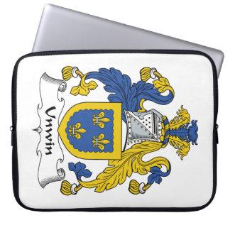 Escudo de la familia de Unwin Funda Computadora