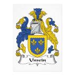 Escudo de la familia de Unwin Invitacion Personal