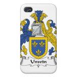 Escudo de la familia de Unwin iPhone 4 Carcasa