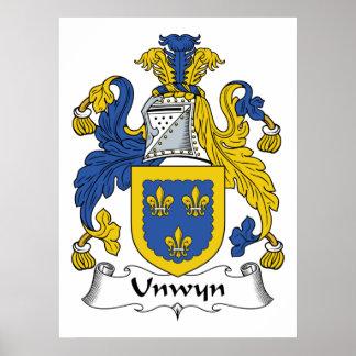 Escudo de la familia de Unwyn Impresiones