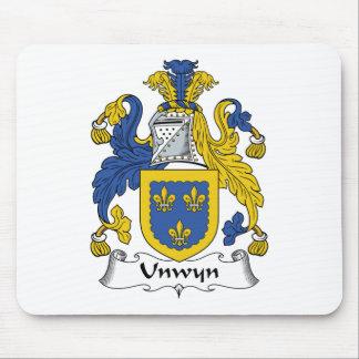 Escudo de la familia de Unwyn Alfombrillas De Raton