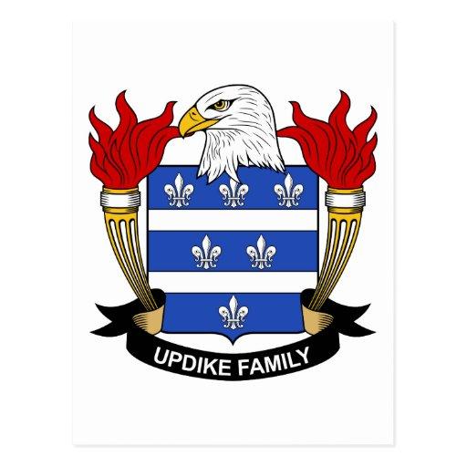 Escudo de la familia de Updike Tarjetas Postales