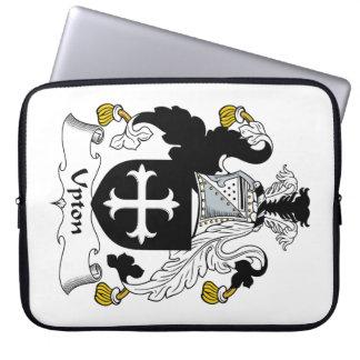 Escudo de la familia de Upton Mangas Portátiles