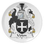 Escudo de la familia de Upton Plato De Cena