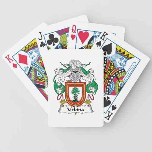 Escudo de la familia de Urbina Baraja Cartas De Poker