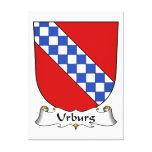 Escudo de la familia de Urburg Impresiones En Lona Estiradas