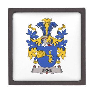 Escudo de la familia de Urne Cajas De Joyas De Calidad