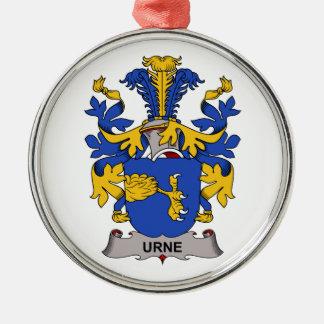 Escudo de la familia de Urne Adorno De Navidad