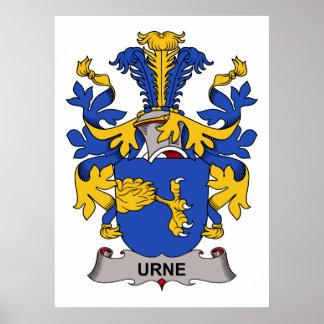 Escudo de la familia de Urne Poster