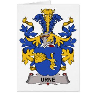 Escudo de la familia de Urne Tarjetas