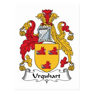 Escudo de la familia de Urquhart Postal