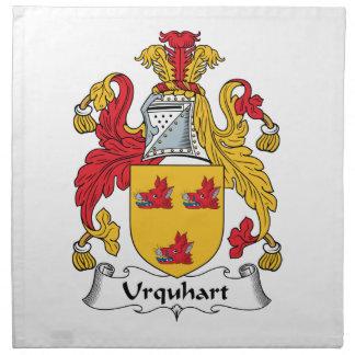 Escudo de la familia de Urquhart Servilleta