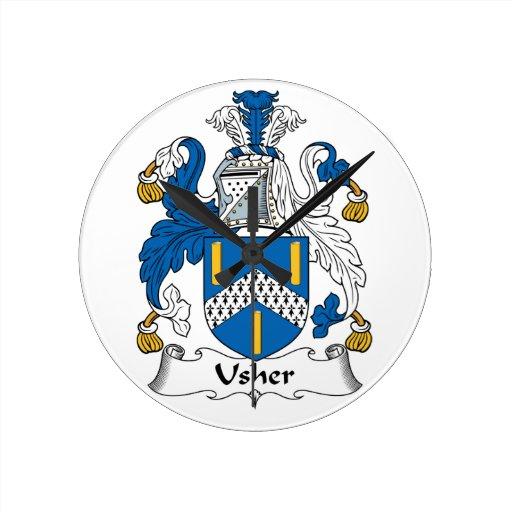 Escudo de la familia de Usher Reloj