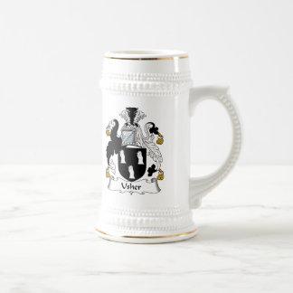 Escudo de la familia de Usher Tazas De Café