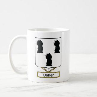 Escudo de la familia de Usher Taza