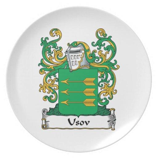 Escudo de la familia de Usov Platos