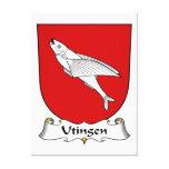 Escudo de la familia de Utingen Lienzo Envuelto Para Galerías