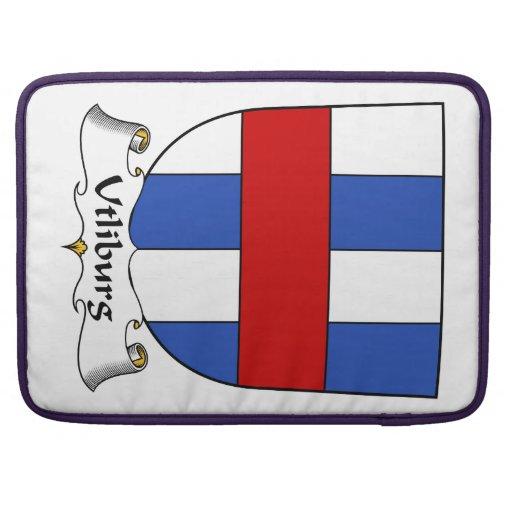 Escudo de la familia de Utliburg Fundas Para Macbook Pro