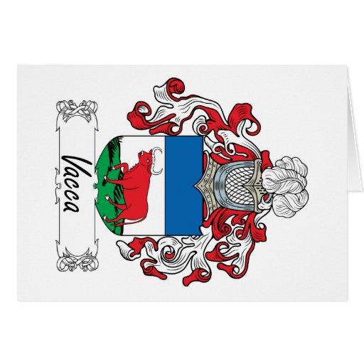 Escudo de la familia de Vacca Felicitacion