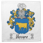Escudo de la familia de Vaccaro Servilleta De Papel